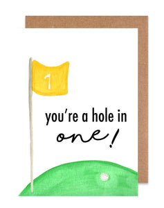 You're a Hole in One! Card