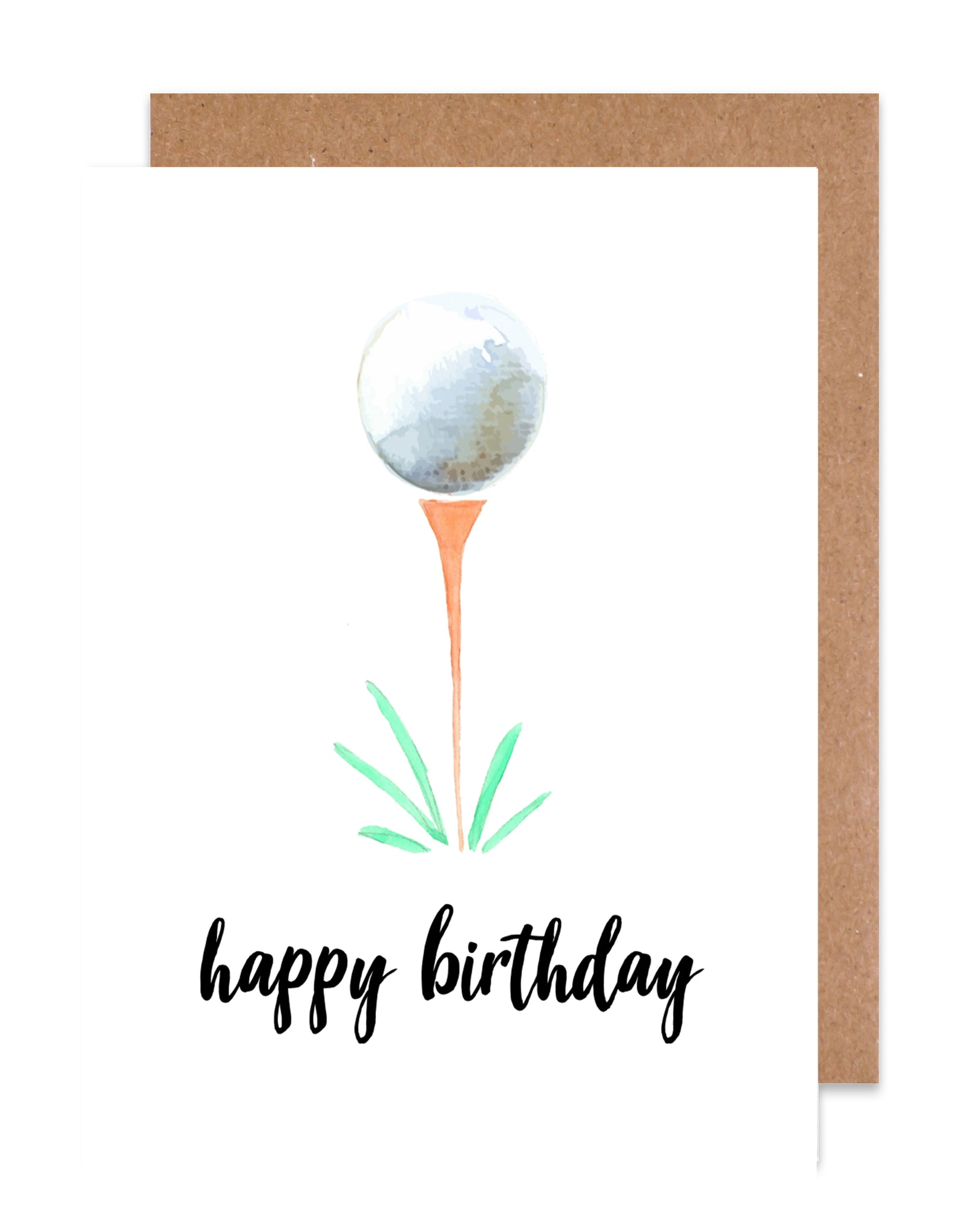 Happy Birthday Golf Card