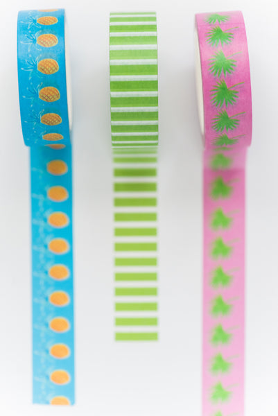 Green Stripe Tape Roll