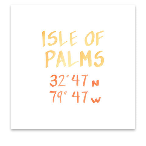 isle of palms coordinate print