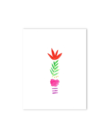 Tropical I Letter Print