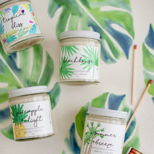tropical candle beach house