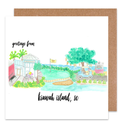 greeting from kiawah island card
