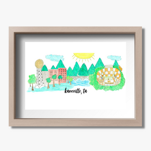 souvenir art print knoxville