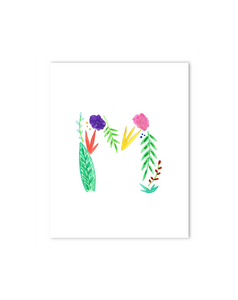 Tropical M Letter Print