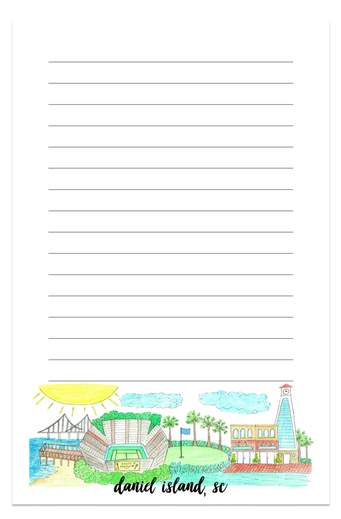 Daniel Island, SC City Notepad