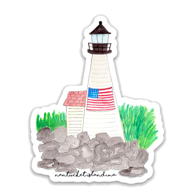 Nantucket Island Lighthouse Sticker