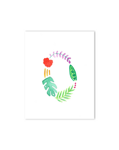 Tropical O Letter Print