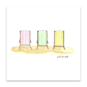 palm beach chair trio print