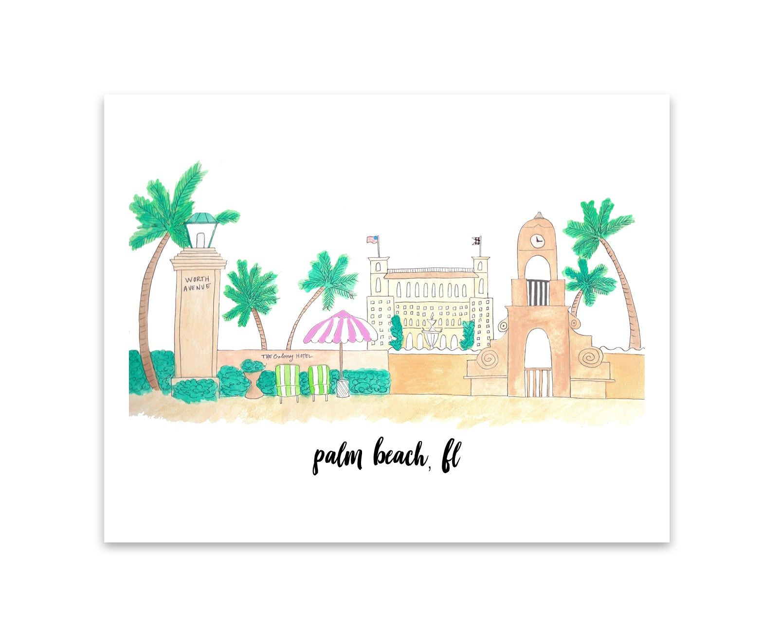 palm beach skyline print
