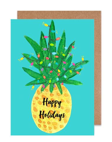Happy Holiday's Pineapple Card