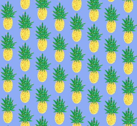 Holiday Pineapple Gift Wrap