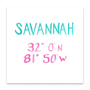 savannah coordinate print