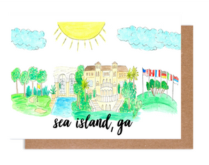 Greetings from Sea Island, GA Card