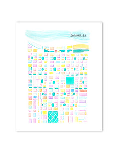 savannah city map print