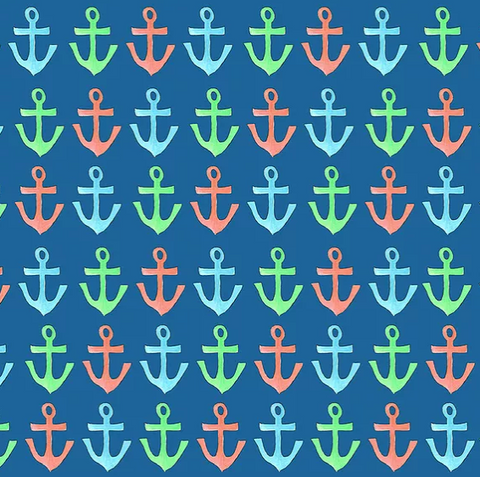 multi colored anchor gift wrap