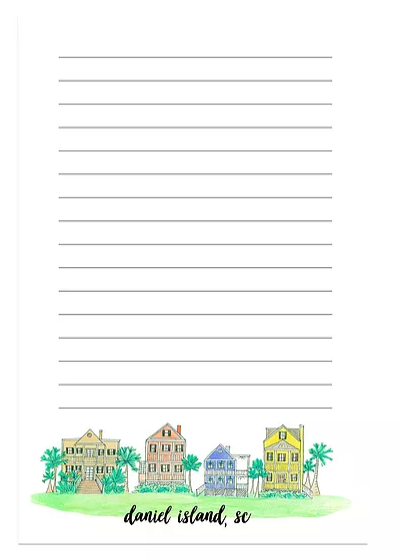 daniel island south carolina notepad