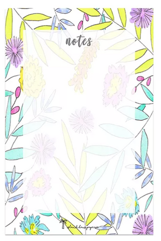 Tropical Floral bloom notepad