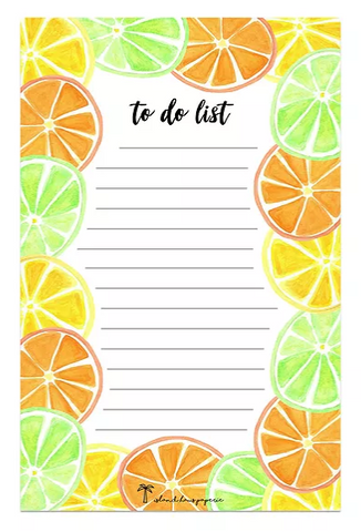 citrus notepad