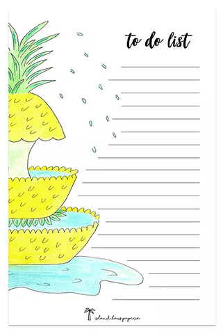 pineapple fountain notepad
