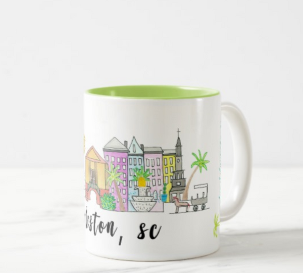 Charleston, SC Skyline Coffee Mug