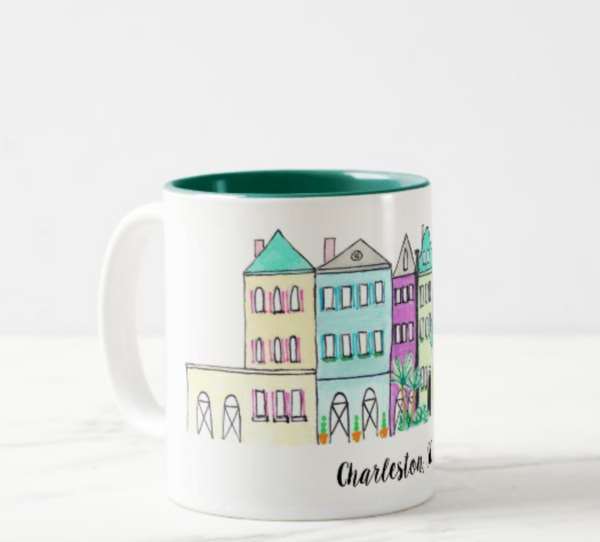 Rainbow Row Coffee Mug