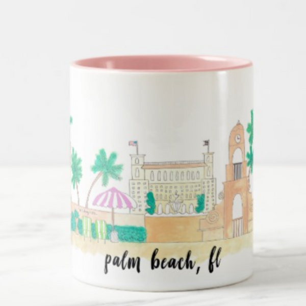 palm beach florida coffee mug