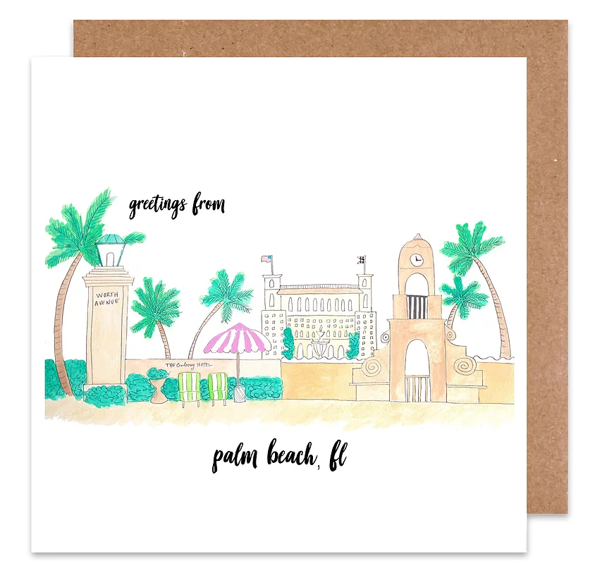 greetings from palm beach card