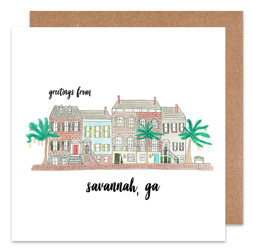 greeting from savannah card