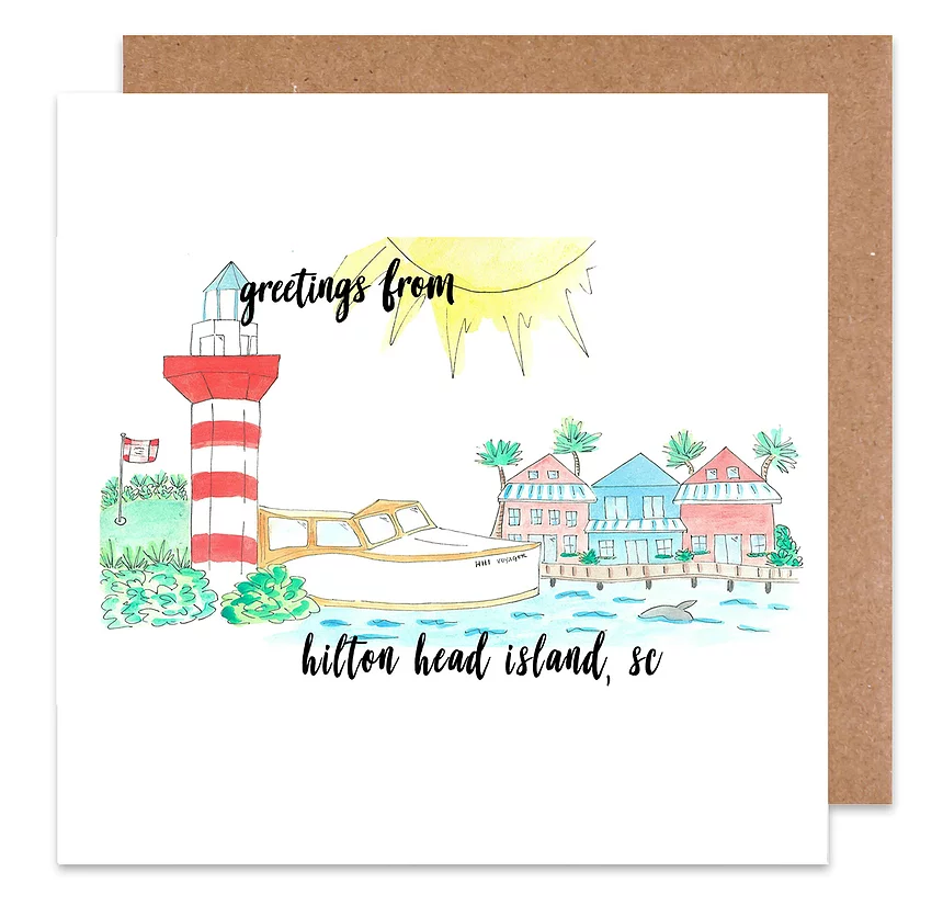 Greetings from hilton head island card