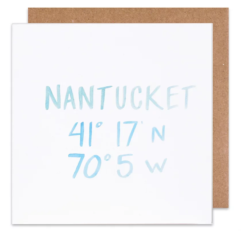 Nantucket coordinate card