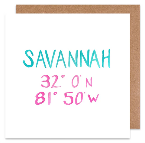 savannah coordinate card