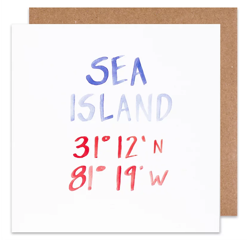 sea island coordinate card