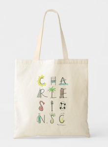 charleston south carolina letters market tote