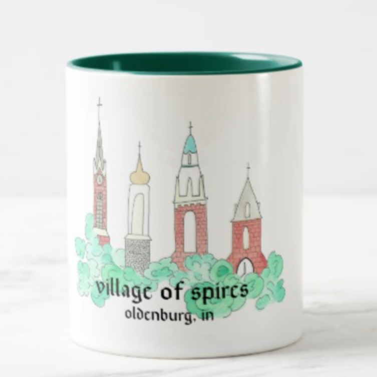 Oldenburg, IN Spires Coffee Mug