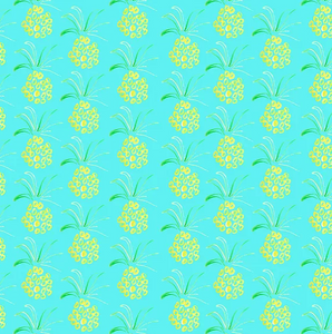 Teal Pineapple Gift Wrap