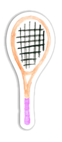 Tennis Racket Sticker