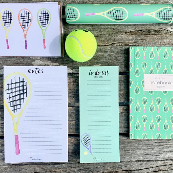 Tennis Stationery Notepad Cards