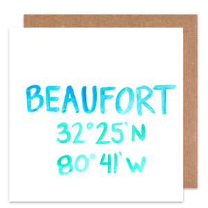 Beaufort Coordinate Card