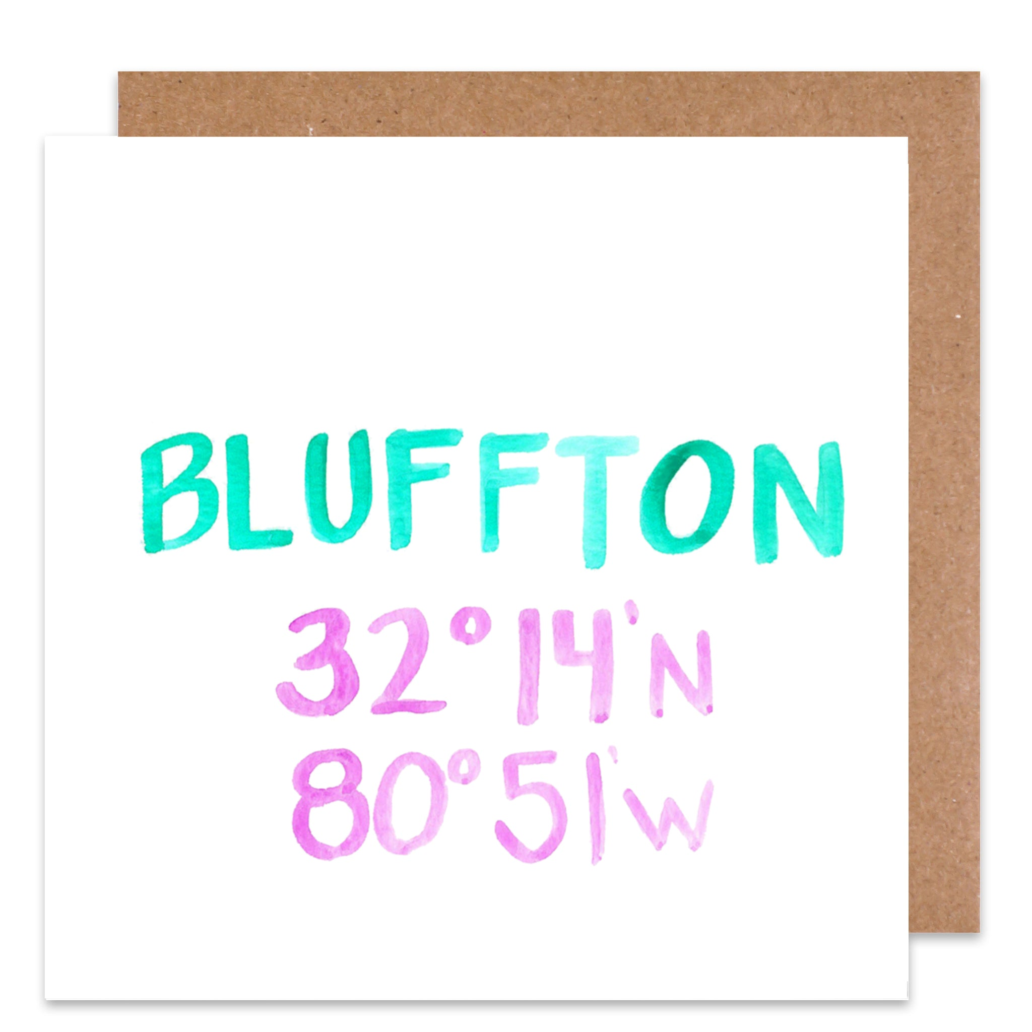 Bluffton Coordinate Card