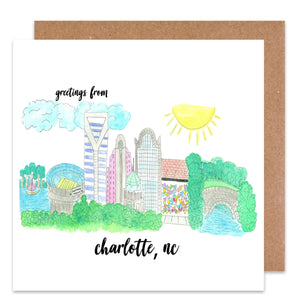 Greetings from Charlotte Card