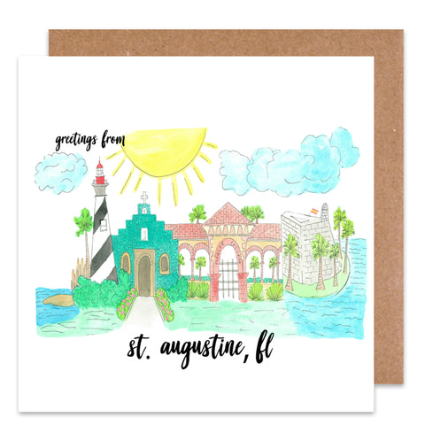 Greetings from St. Augustine Card