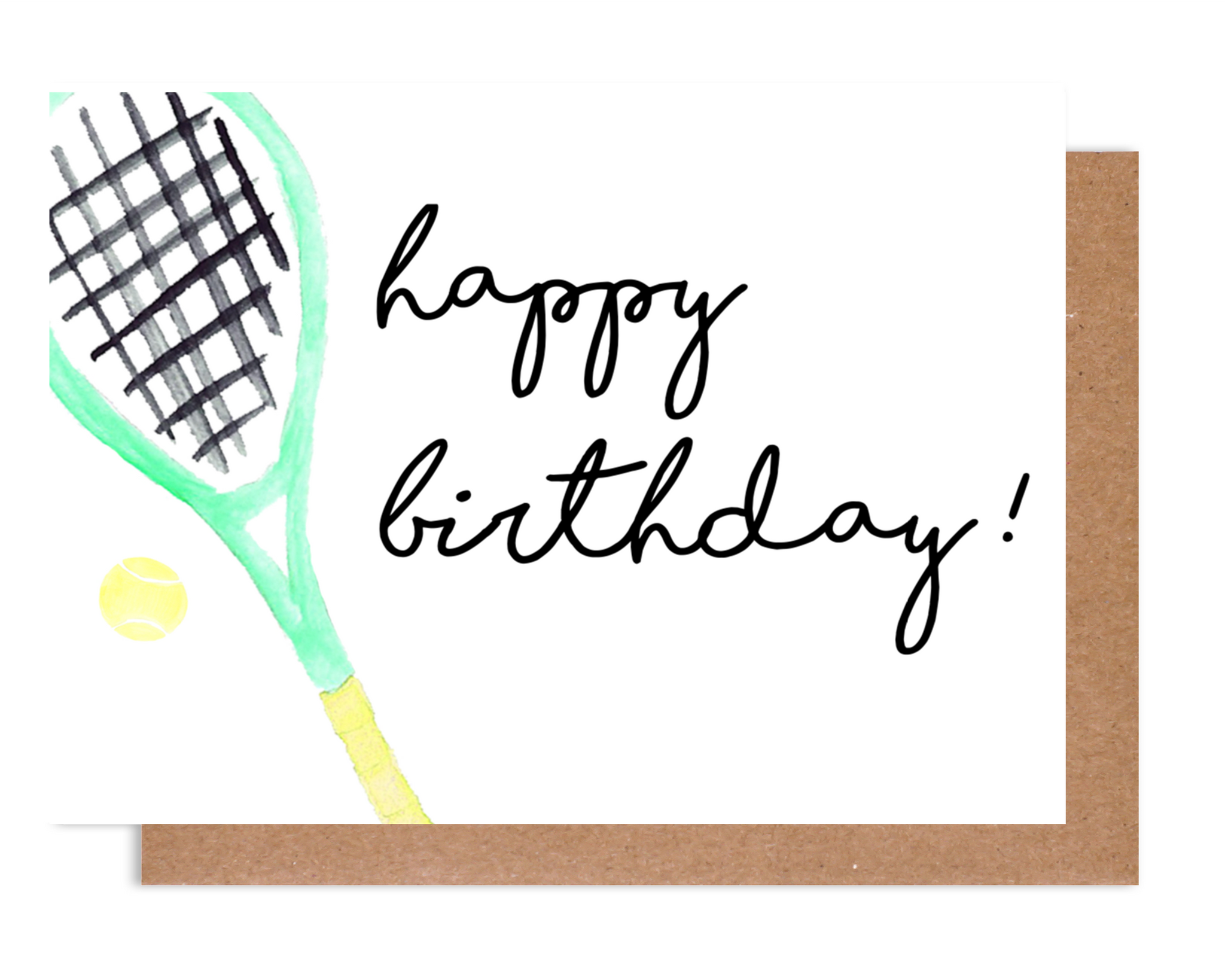 Happy Birthday Tennis Racket Card