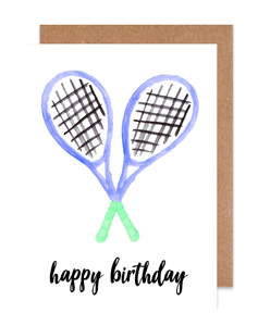 Happy Birthday Tennis Card