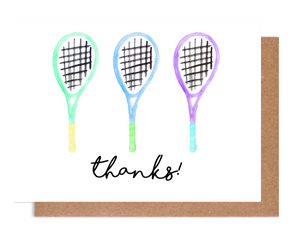 Tennis Thanks! Card