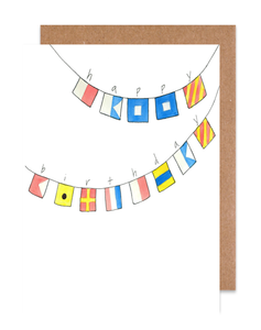 Maritime happy birthday Card