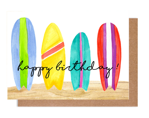 Happy Birthday Surf Card