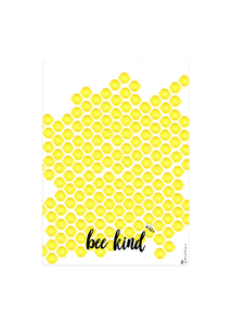 be kind bumble bee tea towel