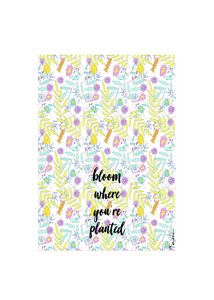 bloom tea towel