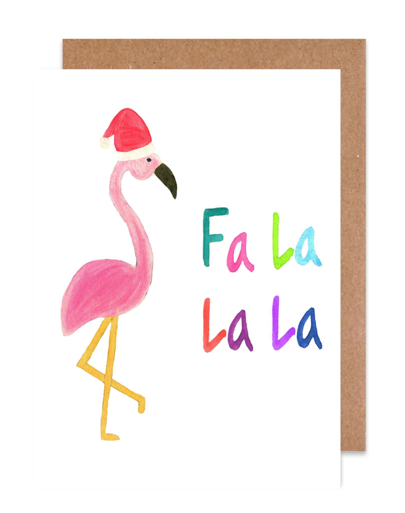 Fa La La La Flamingo Holiday Card